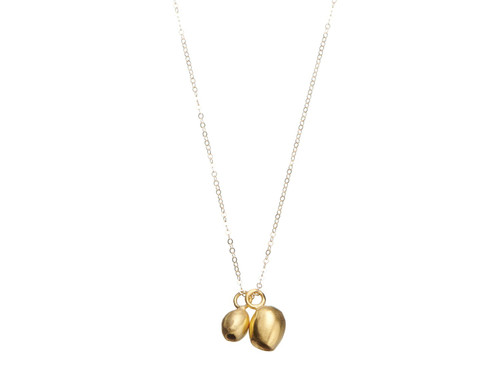 SHABANA JACOBSON - Contemporary Bell / Gumnut Necklace - Gold