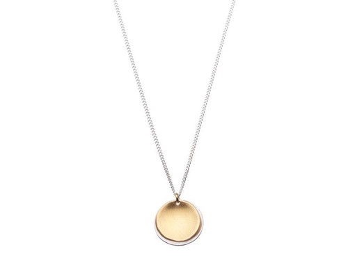 SHABANA JACOBSON - Layered Disc Necklace - Gold/Silver