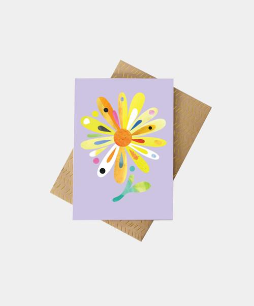 PETE CROMER - Bush Daisy Greeting Card