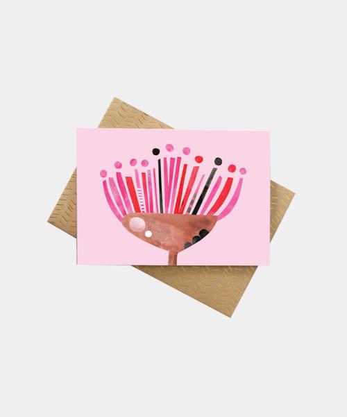 PETE CROMER - Gum Flower Greeting Card