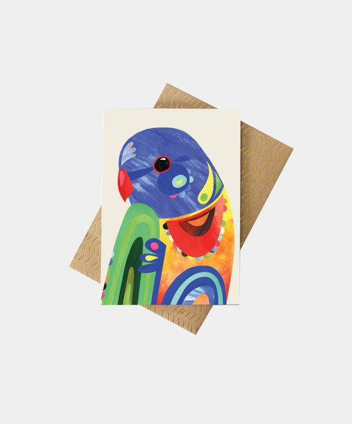 PETE CROMER - Rainbow Lorikeet Greeting Card