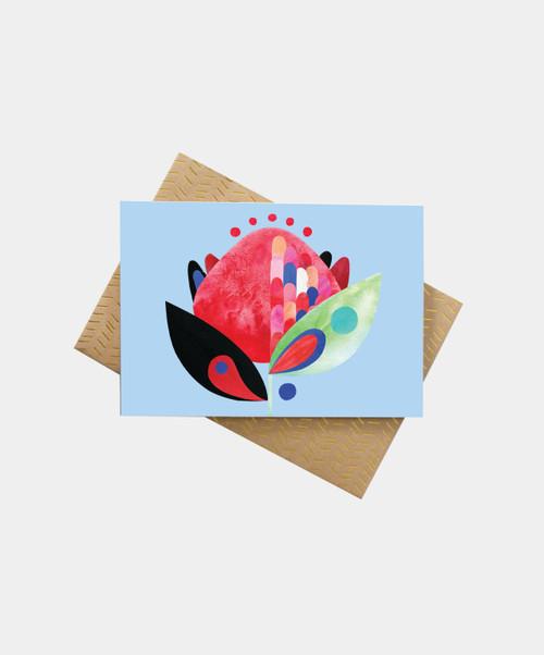 PETE CROMER - Waratah Greeting Card
