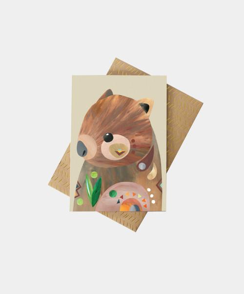 PETE CROMER -Wombat Greeting Card