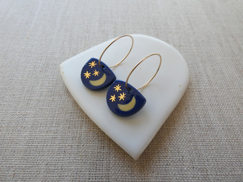 ANDO - Starry Night Earrings - Navy