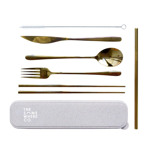 THE SOMEWHERE CO. - Take Me Away Cutlery Kit - Gold