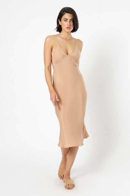NUDE LUCY - Parker Cupro Dress - Terracotta