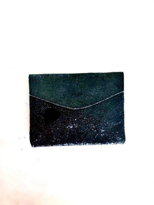 Golden Ponies Accessories - Envelope Clutch in Black Glitter