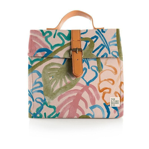 THE SOMEWHERE CO. - Luxe Lunch Satchel in Wild Monestera