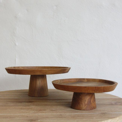 INARTISAN - Jali Wooden Cake Stand - Small