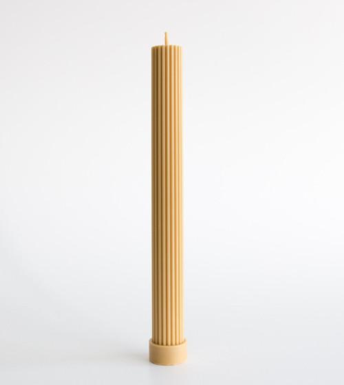 BLACK BLAZE - Column Pillar Candle - Honey