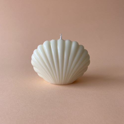 MANARA HOME - CANDLE CLAM SHELL WHITE