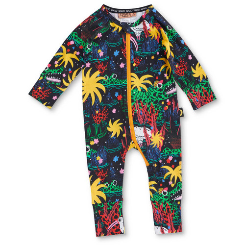 KIP & CO - Swamp Organic Long Sleeve Romper