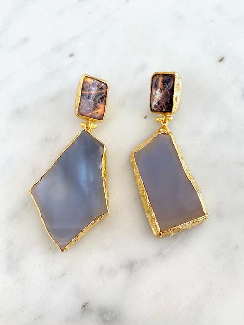 INARTISAN - Ahu Double Drop Earrings