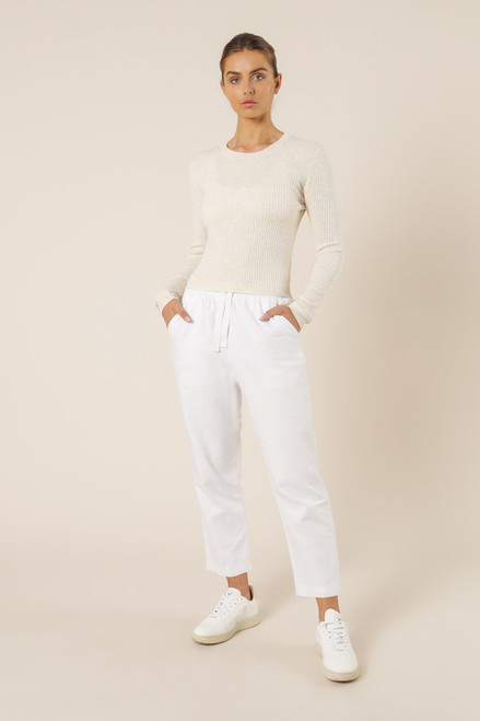 NUDE LUCY - Nude Classic Knit in Snow Marle