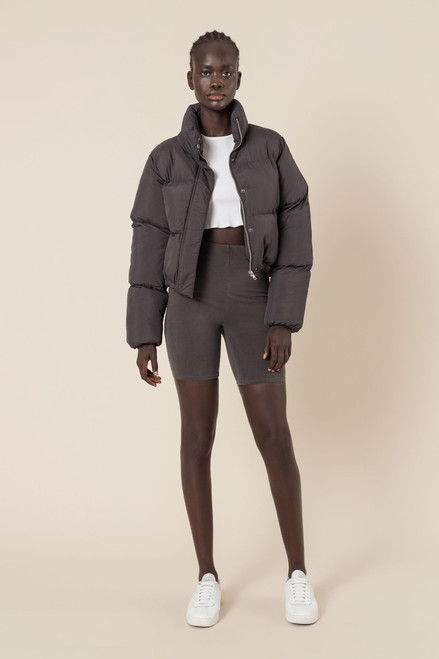 (LATE APRIL DELIVERY) NUDE LUCY - Topher Puffer Jacket in Coal
