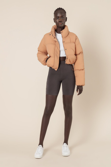 (LATE APRIL DELIVERY) NUDE LUCY - Topher Puffer Jacket in Bisque