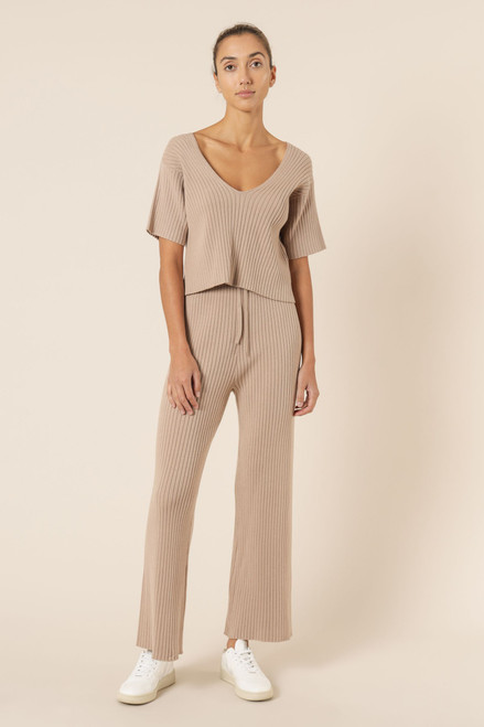 (LATE APRIL DELIVERY) NUDE LUCY - Celia Knit Pants in Mocha