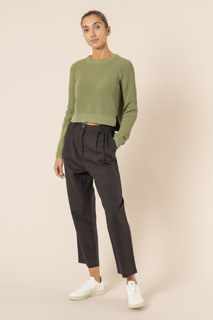 (LATE APRIL DELIVERY) NUDE LUCY - Kallie Knit Jumper In Washed Sage