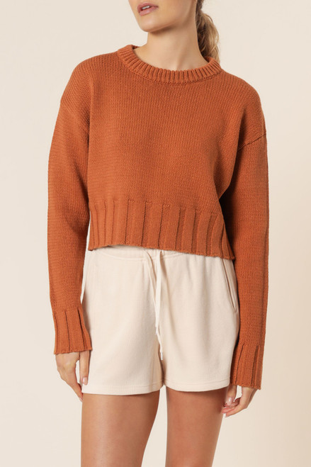 NUDE LUCY - Rory Knit Jumper In Brick