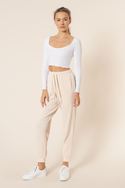NUDE LUCY - Uma Waffle Trackpant In Almond