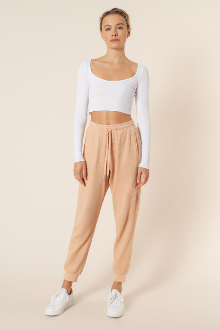 NUDE LUCY - Uma Waffle Trackpant In Biscuit