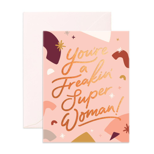 FOX & FALLOW - Freakin' Super Woman Greeting Card