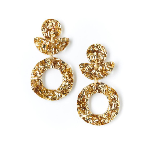MARTHA JEAN - Dune Flower Earrings - Gold Dust - CLIP ON