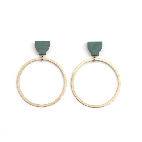 Martha Jean - Hoop Earrings - Green