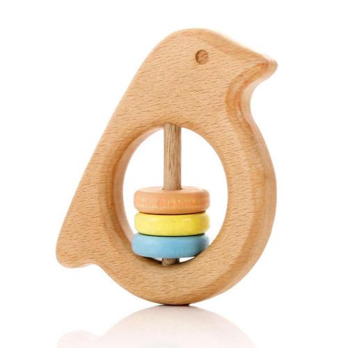 MILTON ASHBY - Bird Rattle - Pastel beads