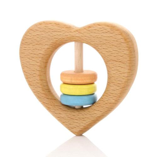 MILTON ASHBY - Heart Rattle - Pastel beads