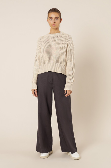 NUDE LUCY - Eden Waffle Knit Jumper - Off White