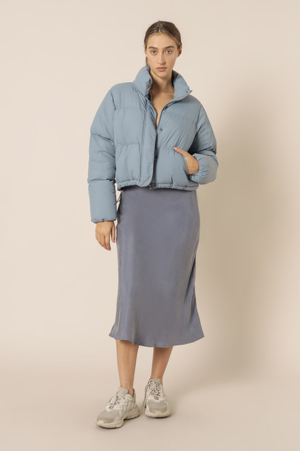 NUDE LUCY - Topher Puffer Jacket - Denim Blue