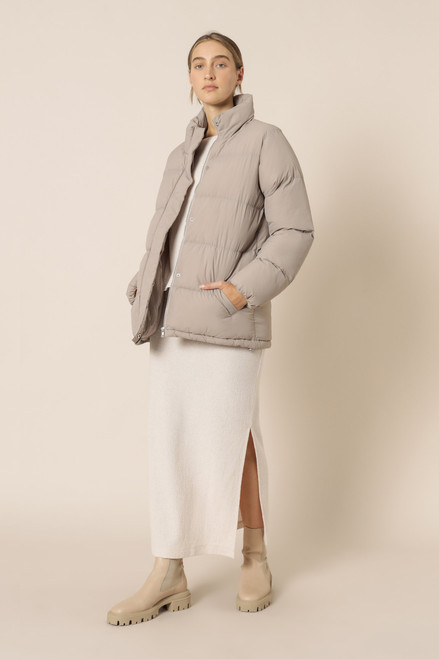 NUDE LUCY - Topher Longline Puffer - Taupe