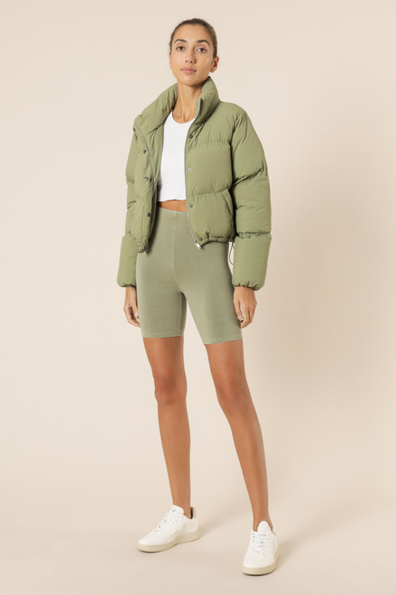 NUDE LUCY - Topher Puffer Jacket - Deep Sage