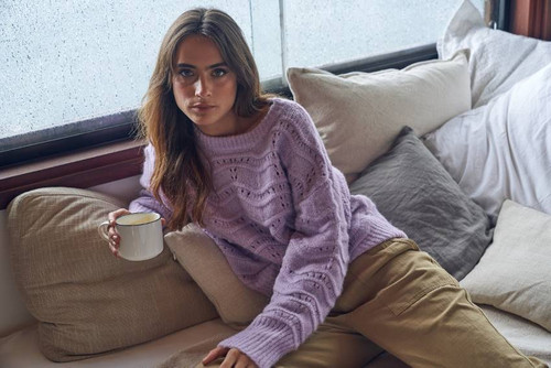 Little Lies - Wave Knit in Lilac