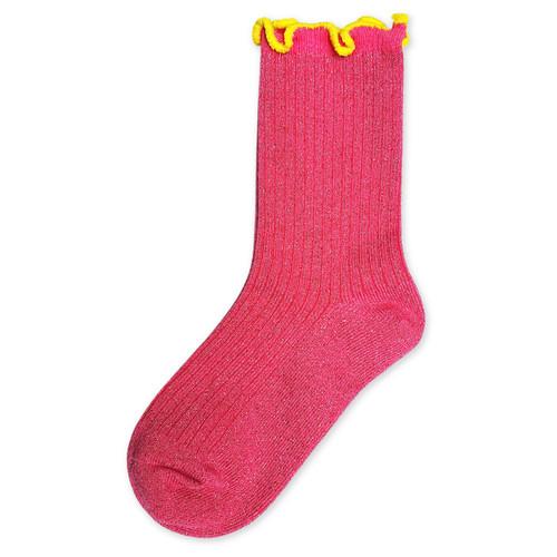KIP & CO - Socks - Neon Pink Frill Sock Adult