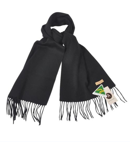 AUSKIN - 100% Wool Scarf - Black