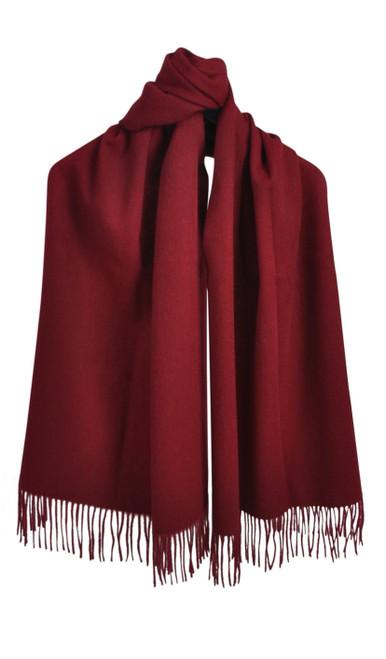 AUSKIN - 100% Wool Shawl - Ruby