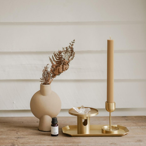BLACK BLAZE - Column Pillar Candle - 2 Pack - Honey