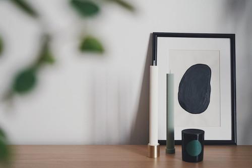 BLACK BLAZE - Column Pillar Candle - 2 Pack - Eucalyptus