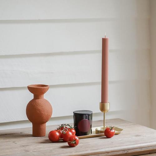 BLACK BLAZE - Column Pillar Candle - 2 Pack - Peach