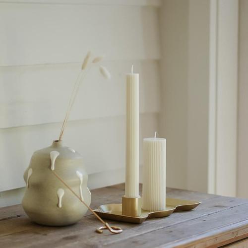 BLACK BLAZE - Column Pillar Candle - 2 Pack - White