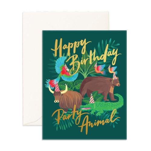 FOX & FALLOW - Happy Birthday Party Animal Greeting Card