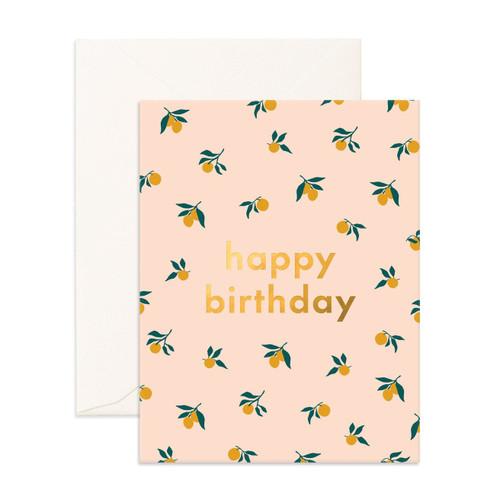 FOX & FALLOW - Happy Birthday Lovely Lemon Bunch Greeting Card