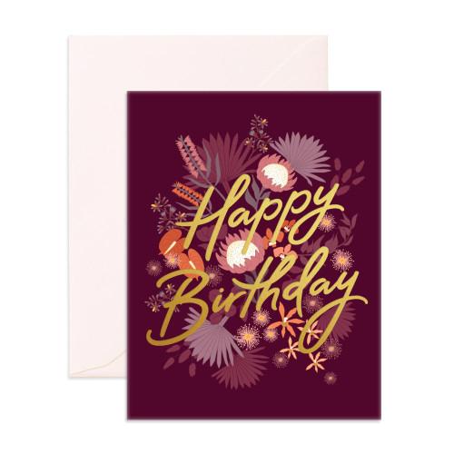FOX & FALLOW - Happy Birthday Amaranth Greeting Card