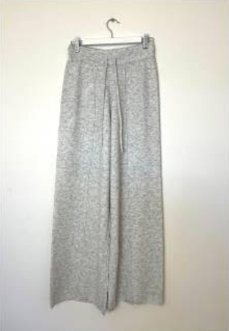 LITTLE LIES - Kendall Knitted Pants in Grey Marle