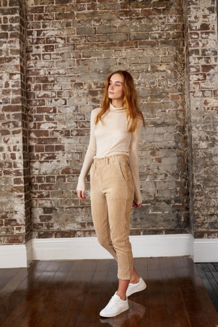LITTLE LIES - Callie Cord Pants in Toffee