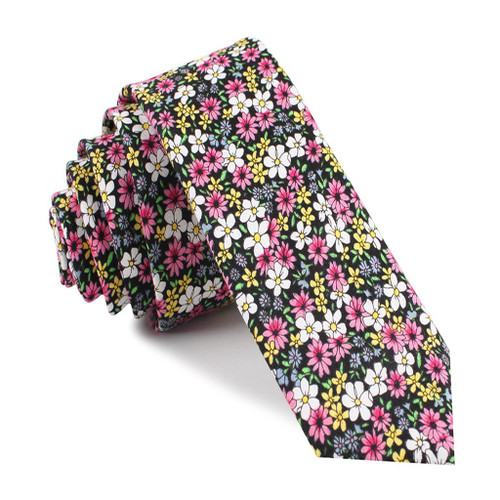 OTAA - Daffodil Floral Cotton Tie