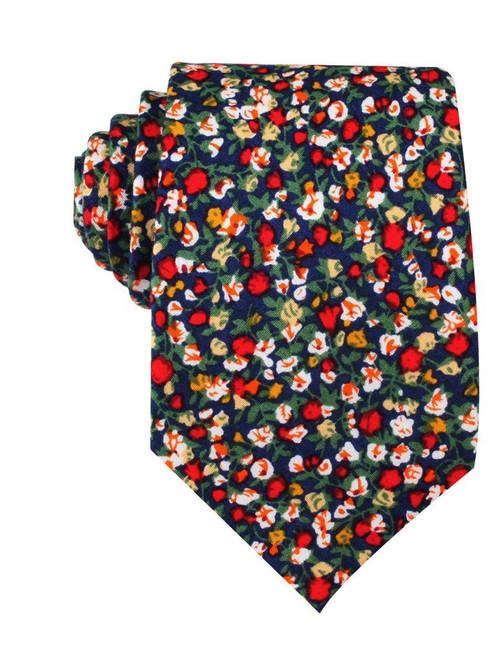OTAA - Hanoi Red Rose Floral Cotton Tie