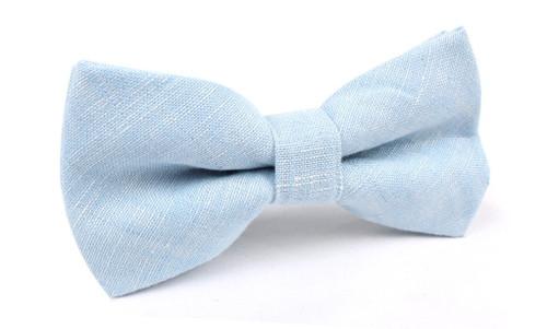 OTAA - Light Blue Linen Chambray Bow Tie